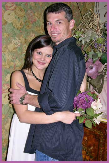 Casual wedding couple