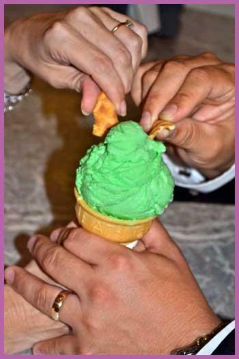 4vows.com Ice Cream Wedding