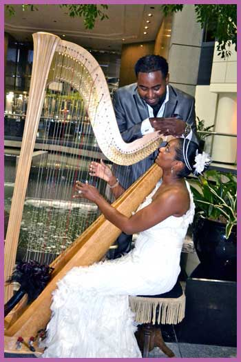 Wedding couple at a Dallas, TX venue