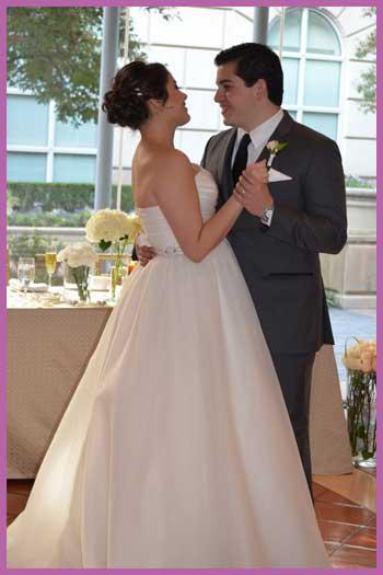 Wedding couple dancing at their Dallas, TX reception