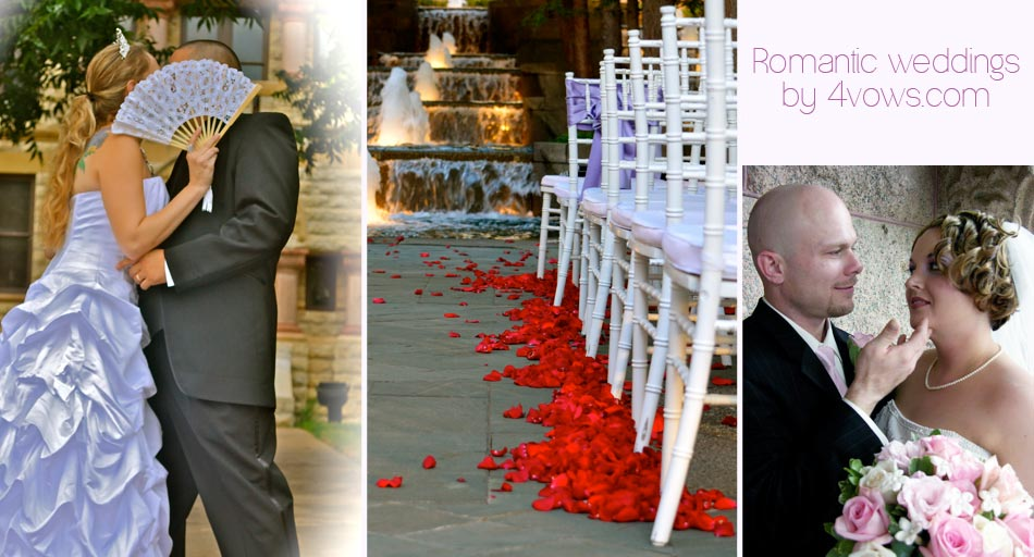Romantic Weddings by 4vows.com, wedding couple kissing behind fan, Avanti wedding venue, wedding couple